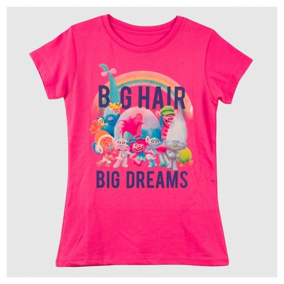 Girls' Trolls Short Sleeve T-Shirt - Pink XS