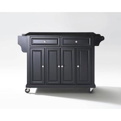Solid Black Granite Top Kitchen Cart/Island Black - Crosley