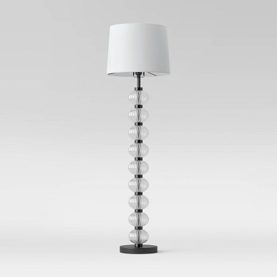 Stacked Ribbed Glass Floor Lamp (Includes LED Light Bulb) Clear - Threshold™
