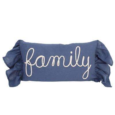 Frema 'Family' Oversize Lumbar Throw Pillow Blue - Decor Therapy