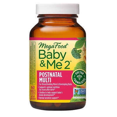 MegaFood Baby and Me 2 Postnatal Multi Supplement - 60ct