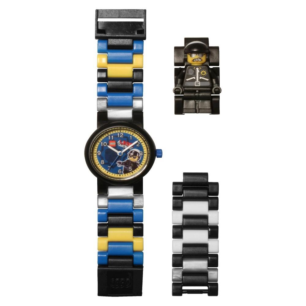 Lego Movie Bad Cop Mini-Figure Link Watch - Black, Boy's