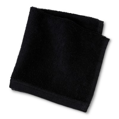 Everyday Solid Washcloth Black - Room Essentials™