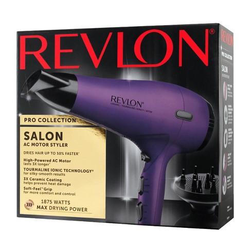Revlon Salon Fast Drying Ac Motor Hair Dryer 1875w Purple Target