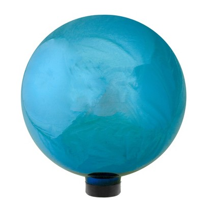 "Northlight 10"" Mirrored Turquoise Blue Outdoor Patio Garden Gazing Ball"