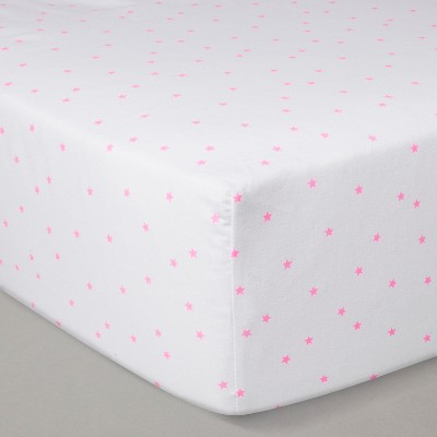 Crib Fitted Sheet - Cloud Island™ White/Pink