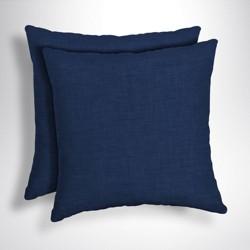 2pk Leala Texture Square Outdoor Throw Pillows - Arden Selections