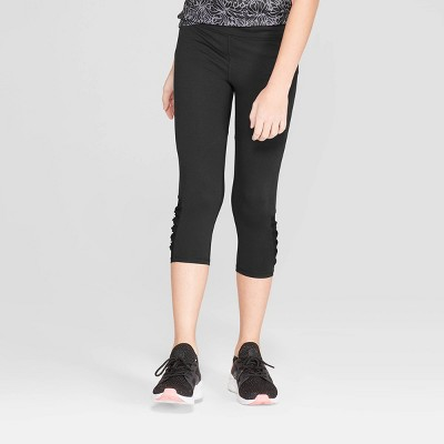 296895420768 Girls  Mesh Pieced Capri Leggings - C9 Champion®