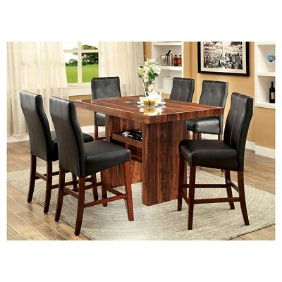 Sun U0026 Pine Faux Marble Top Block Counter Dining Table Wood/Brown Cherry :  Target