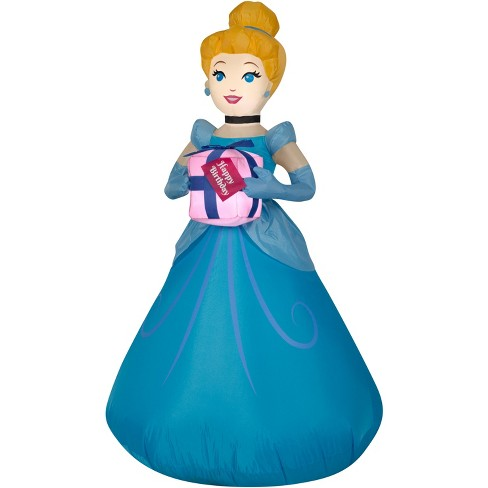 Gemmy Airblown Inflatable Birthday Party Cinderella with Present, 3.5 ft Tall, blue - image 1 of 2