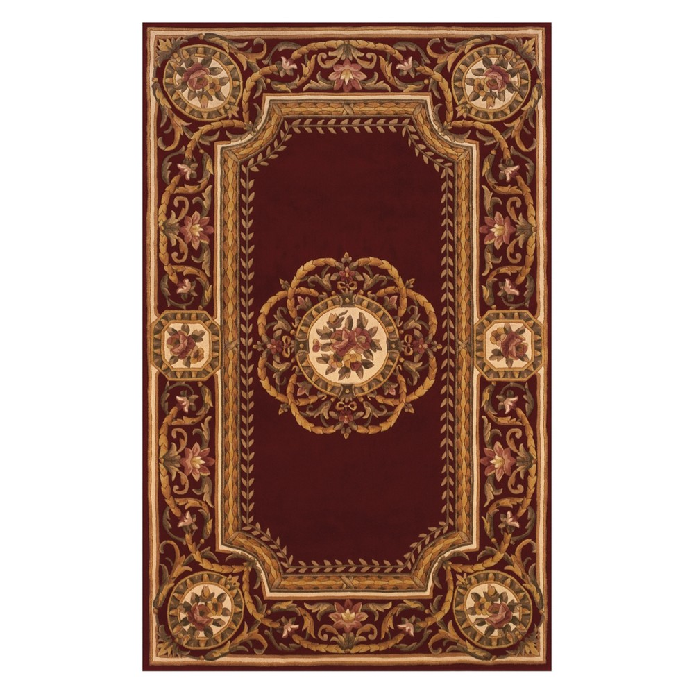 8'X11' Floral Tufted Area Rug Burgundy (Red) - Momeni
