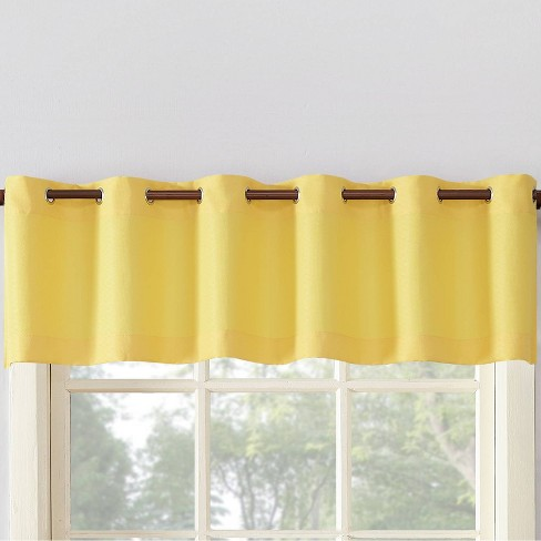 14 X56 Montego Casual Textured Grommet Top Kitchen Curtain Valance No 918 Target