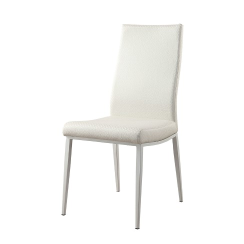 Iohomes Hollie Contemporary Leatherette Dining Chair White Homes Inside Out