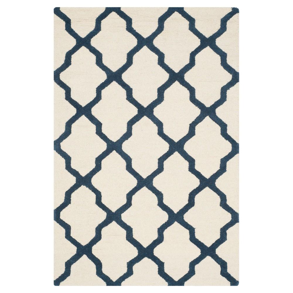 Maison Textured Rug - Ivory / Navy (4'X6') - Safavieh, Ivory/Blue