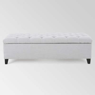 Ottilie Storage Ottoman - Light Gray - Christopher Knight Home