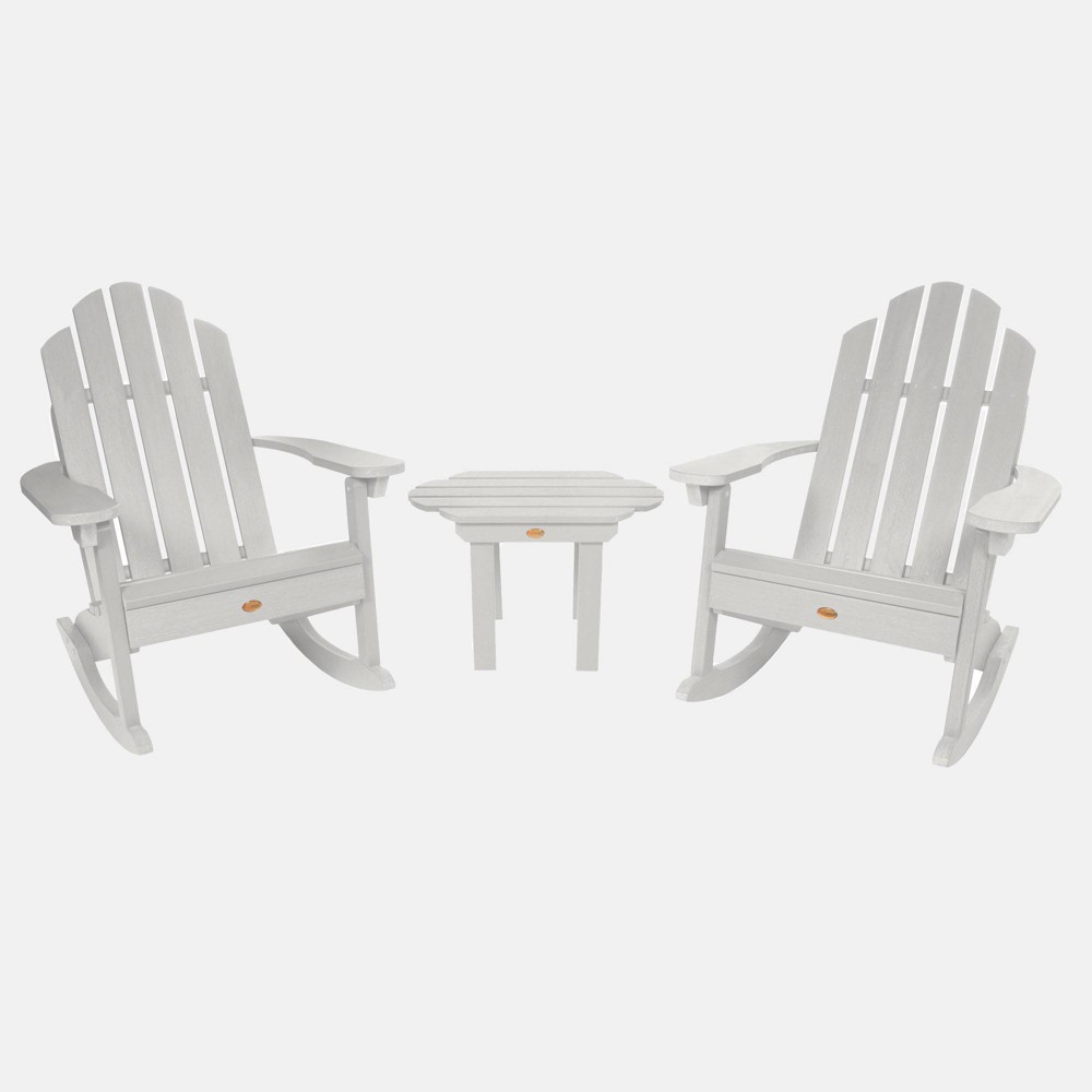 Image of 3pc Classic Westport Adirondack Rocking Chair Patio Set White - highwood