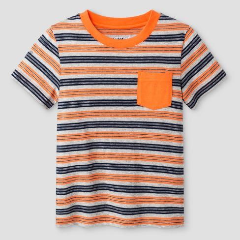 2206e4f15 Toddler Boys' Crew Neck T-Shirt - Cat & Jack™ Orange Stripe : Target