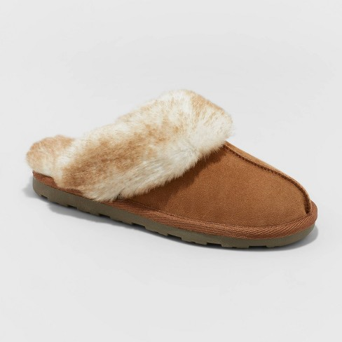 Women's Chandra Genuine Suede Scuff Slide Slippers - Stars Above™ - image 1 of 4