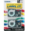 Casio Tape Cassettes for KL Label Makers 9mm x 26ft Black on White 2/Pack XR9WE2S - image 2 of 2