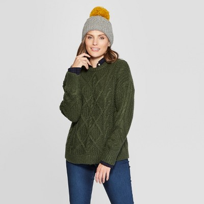 Women's Long Sleeve Cable Detail Pullover   Universal Thread™ by Universal Thread