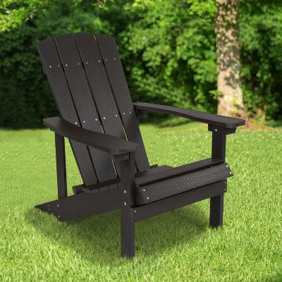 Emma and Oliver All-Weather Adirondack Chair in Faux Wood
