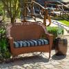Aurora Stripe Wicker Settee Cushion Sapphire - Arden Selections - image 3 of 3