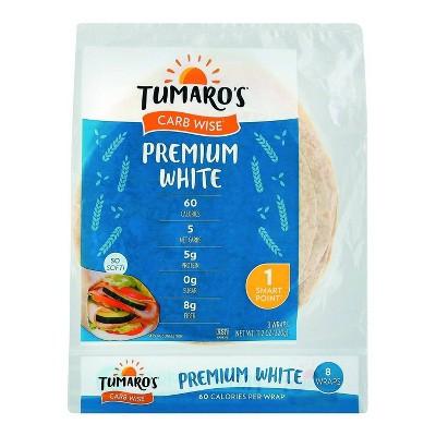 Tumaro's Premium Low Carb White Tortillas - 8ct