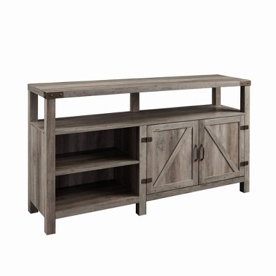 "2 Door Farmhouse Highboy TV Stand for TVs up to 65"" - Saracina Home"
