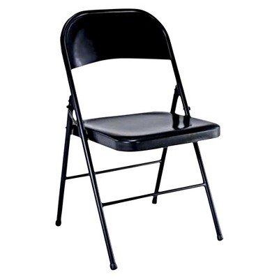 Folding Chair Black   Plastic Dev Group®