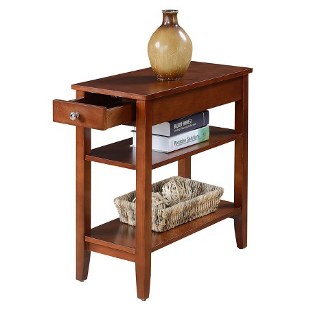 American Heritage Three Tier End Table With Drawer Johar Furniture