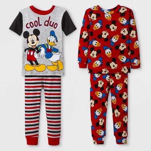 3fb6077e069c Baby Boys  Mickey Mouse 4pc Pajama Set - Red   Target