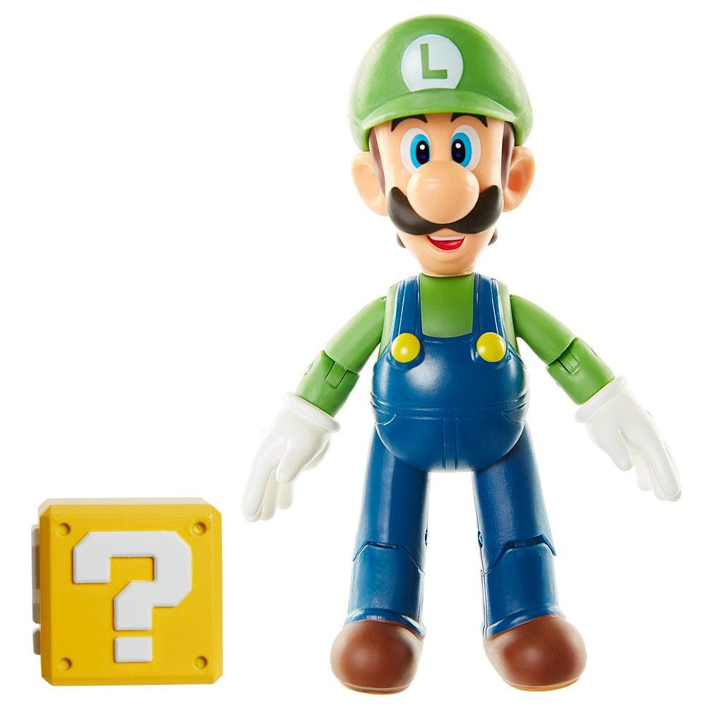 Nintendo Super Mario Figures - Luigi (Open Hands Version) 4 Figure