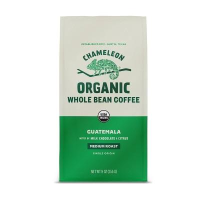 Chameleon Organic Guatemala Medium Roast Whole Bean Coffee - 9oz