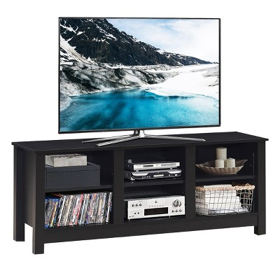 Costway TV Stand Cabinet for TV's Up to 60'' Entertainment Center w/Storage Shelves BlackBrown