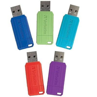 Verbatim PinStripe 16GB USB 2.0 Flash Drives 5/Pack (99813) 2735156