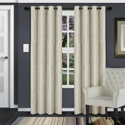 Blackout Thermal Insulated 2-Piece Curtain Panel Set with Stainless Grommet Header - Blue Nile Mills