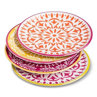 Marika Floral Melamine Salad Plates 9'' - 4pc