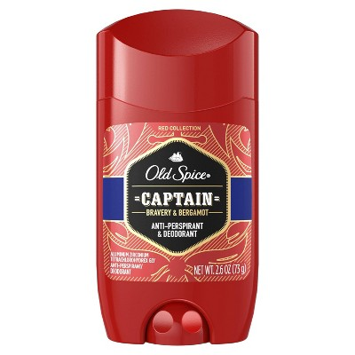 Old Spice Red Collection Captain Scent Invisible Solid Anti-Perspirant and Deodorant for Men - 2.6oz