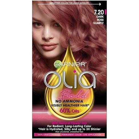 Garnier Olia Bold Permanent Hair Color Dark Rose Quartz Target