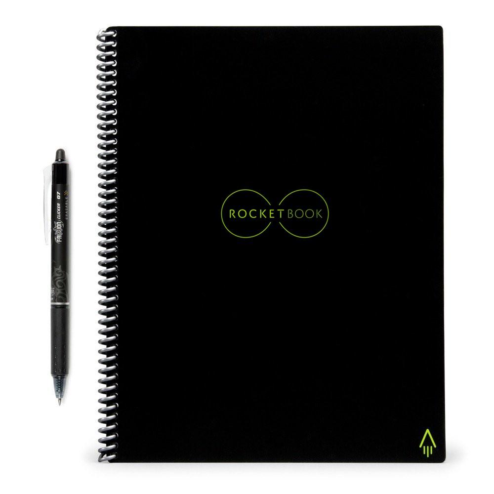 Rocketbook 1 Subject Smart Spiral Notebook Black