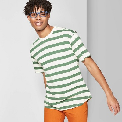 view Men's Striped Short Sleeve T-Shirt - Original Use on target.com. Opens in a new tab.
