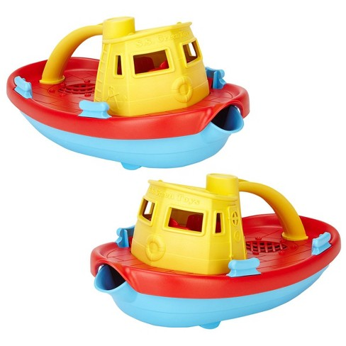 Green Toys Scoop and Pour Tug Boats  - Set of 2 - image 1 of 4