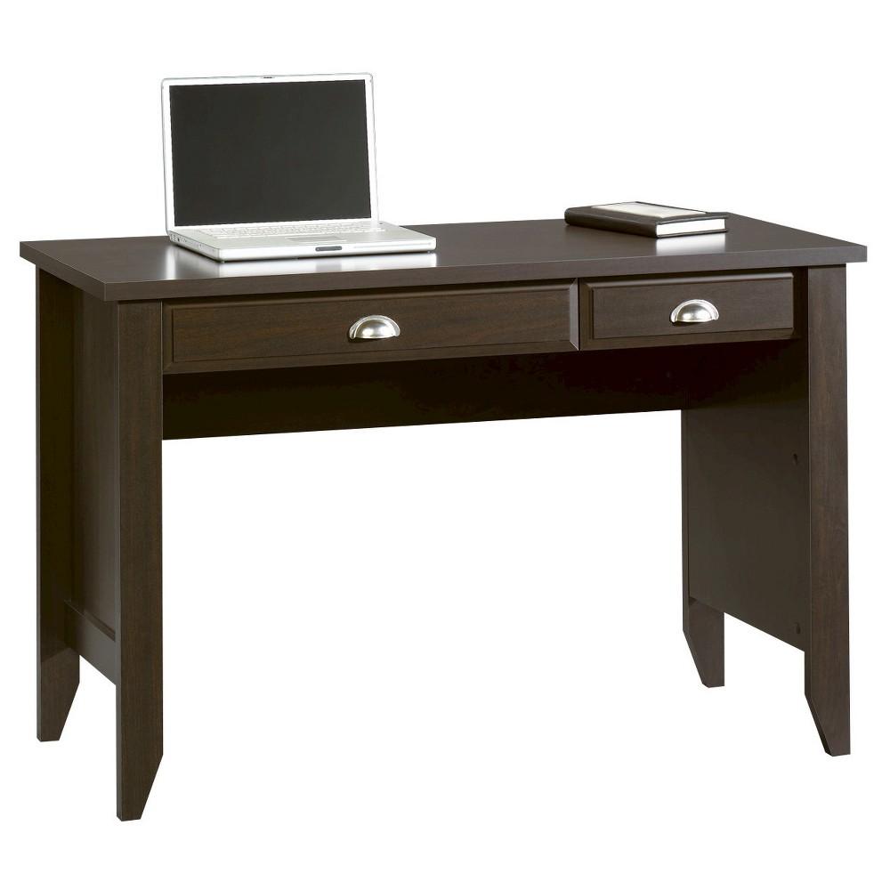 Shoal Creek Computer Desk with Flip Down Keyboard - Jamocha Wood - Sauder