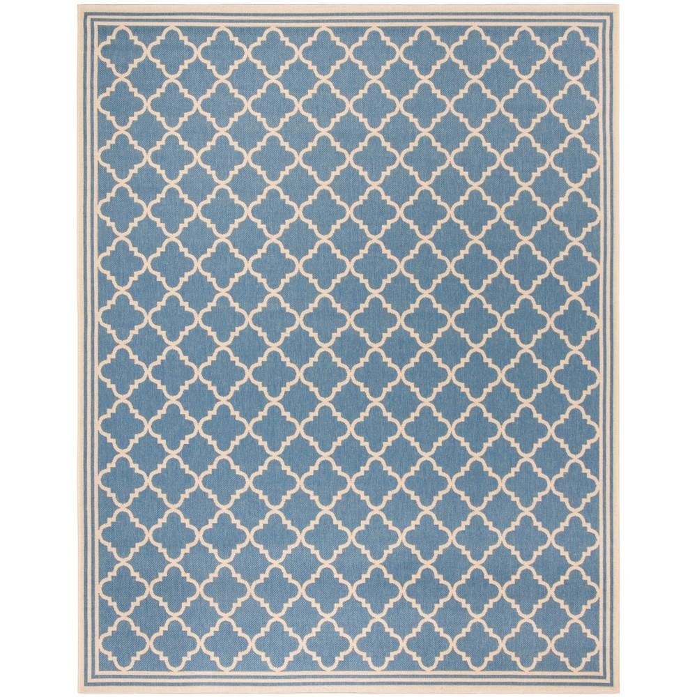 8'X10' Quatrefoil Design Loomed Area Rug Blue/Cream (Blue/Ivory) - Safavieh