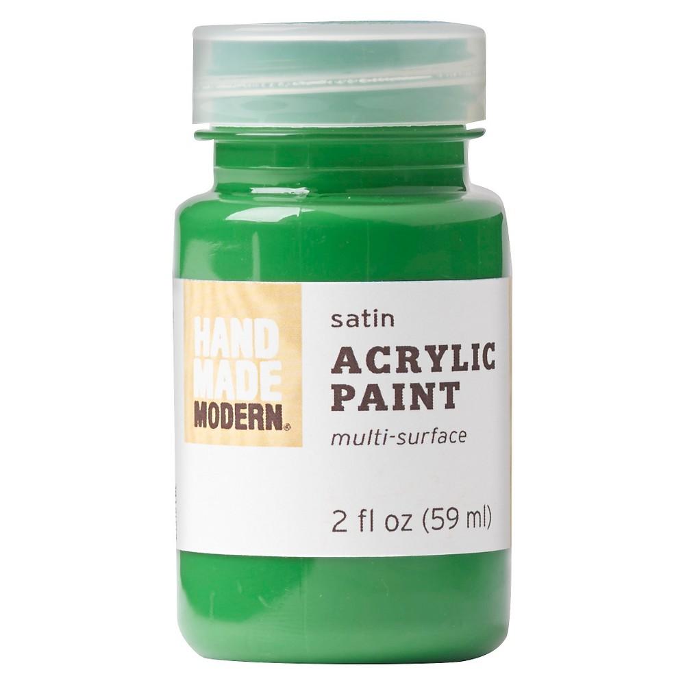 Hand Made Modern - 2oz Satin Acrylic Paint - Emerald (Green)