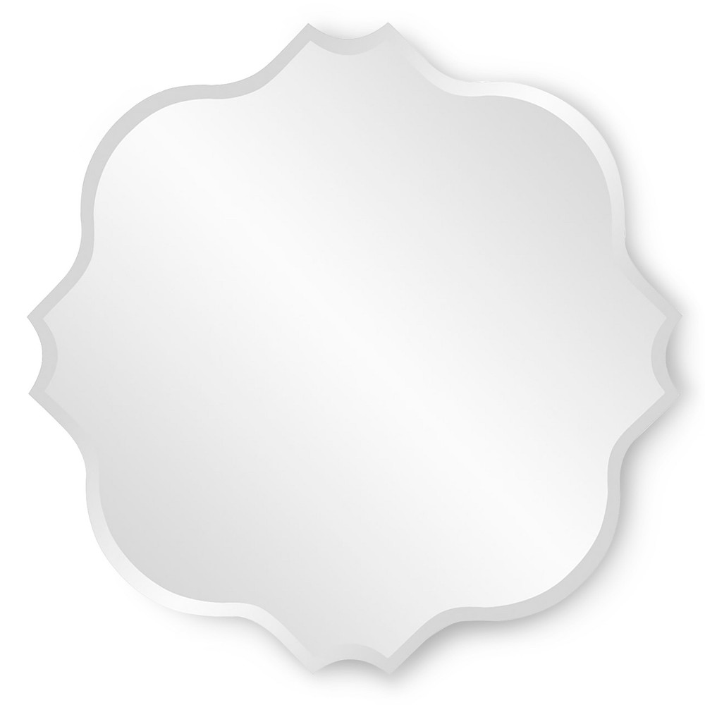 Scalloped Frameless Decorative Wall Mirror Clear - Howard Elliott