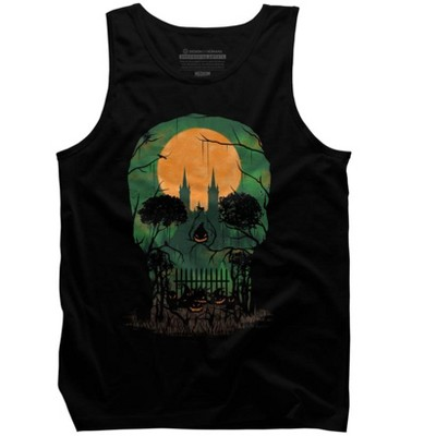 Skull Grave Mens Graphic Tank Top - Design By Humans
