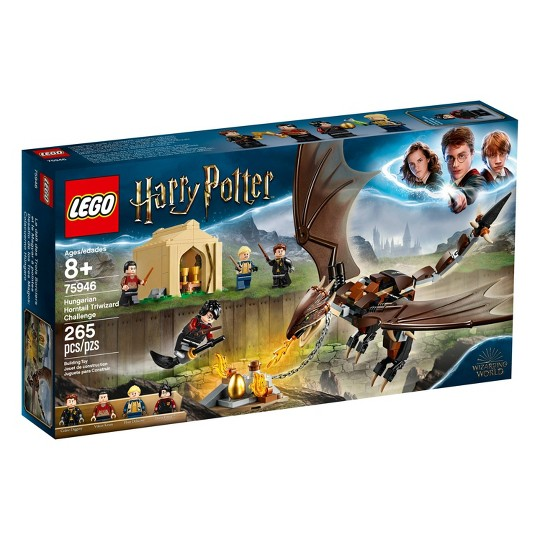 LEGO Harry Potter Hungarian Horntail Triwizard Challenge 75946 Toy Dragon Building Kit 265pc image number null