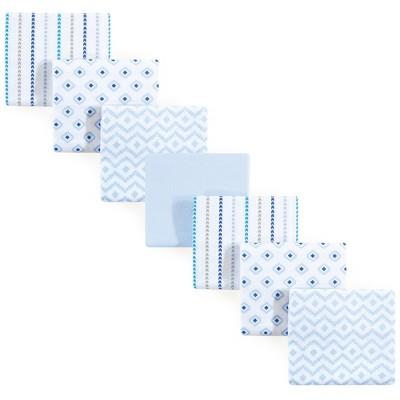 Hudson Baby Infant Boy Cotton Flannel Receiving Blankets Bundle, Boy Modern, One Size