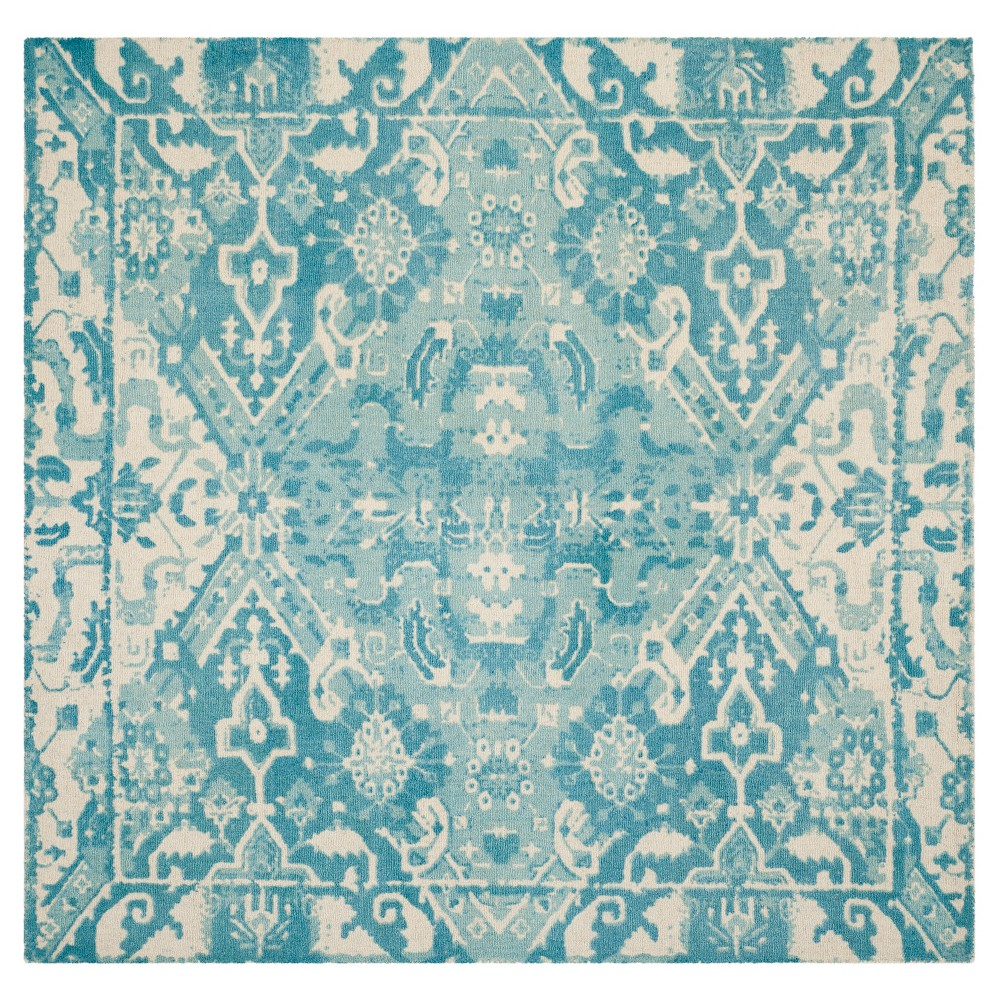 Restoration Vintage Rug - Light Blue/Ivory - (6'x6' Square) - Safavieh